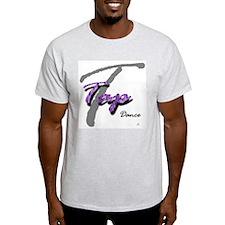 Big T Purple Tap Ash Grey T-Shirt