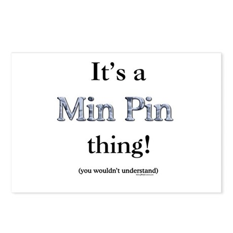 Min Pin Thing Postcards (Package of 8)