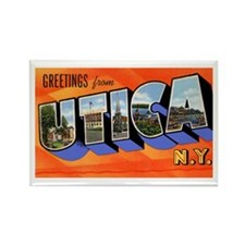 Utica New York Greetings Rectangle Magnet