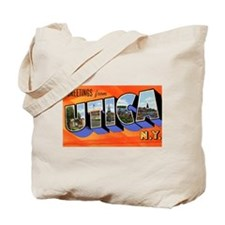 Utica New York Greetings Tote Bag