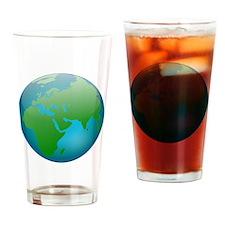 Circular Earth Globe Drinking Glass
