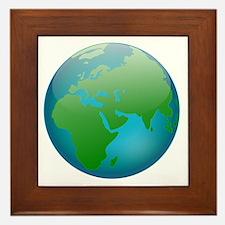 Circular Earth Globe Framed Tile