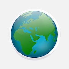 "Circular Earth Globe 3.5"" Button"