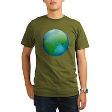 Circular Earth Globe T-Shirt