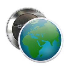 "Circular Earth Globe 2.25"" Button"