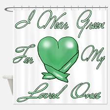 I wear Green Shower Curtain