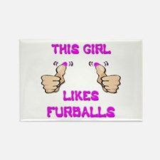 This Girl Likes Furballs Rectangle Magnet