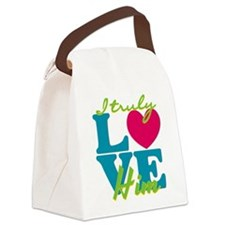 I Truly Love Him Canvas Lunch Bag