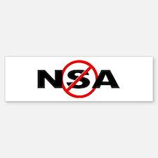 Anti / No NSA Bumper Bumper Sticker