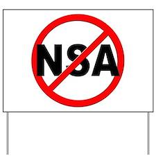 Anti / No NSA Yard Sign