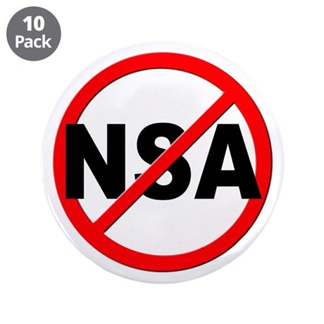 "Anti / No NSA 3.5"" Button (10 pack)"