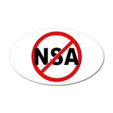 Anti / No NSA 35x21 Oval Wall Decal