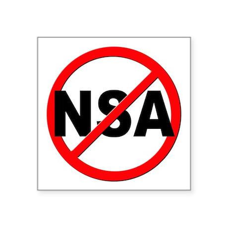 """Anti / No NSA Square Sticker 3"""" x 3"""""""