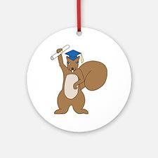 Squirrel Graduate Ornament (Round)