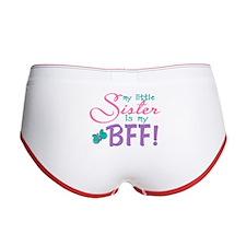 Little Sister BFF Butterfly Women's Boy Brief