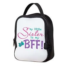 Little Sister BFF Butterfly Neoprene Lunch Bag