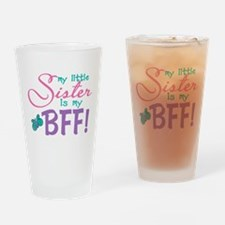 Little Sister BFF Butterfly Drinking Glass