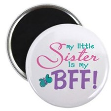 Little Sister BFF Butterfly Magnet
