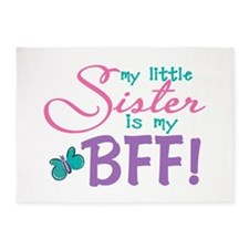 Little Sister BFF Butterfly 5'x7'Area Rug