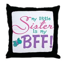 Little Sister BFF Butterfly Throw Pillow