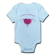 North Carolina State (Heart) Gifts Onesie
