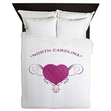North Carolina State (Heart) Gifts Queen Duvet