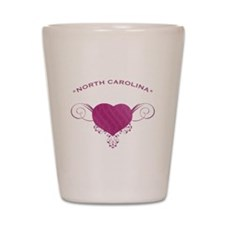 North Carolina State (Heart) Gifts Shot Glass