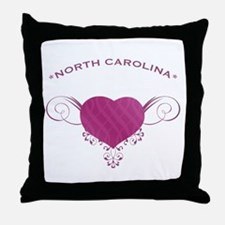 North Carolina State (Heart) Gifts Throw Pillow