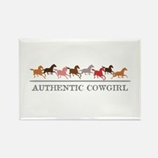 Authentic Cowgirl Rectangle Magnet (10 pack)