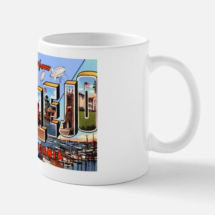 Vallejo California Greetings Mug