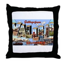 Vallejo California Greetings Throw Pillow