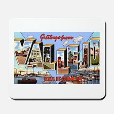 Vallejo California Greetings Mousepad
