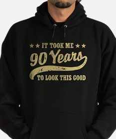 Funny 90th Birthday Hoodie (dark)