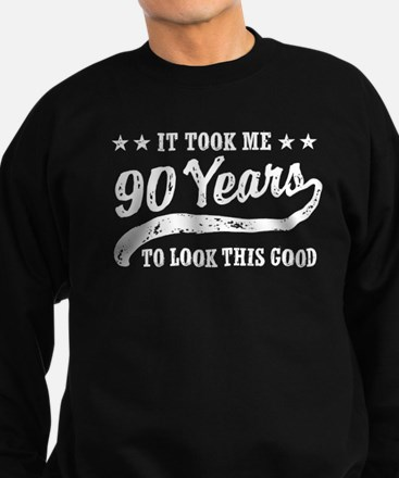 Funny 90th Birthday Sweatshirt (dark)