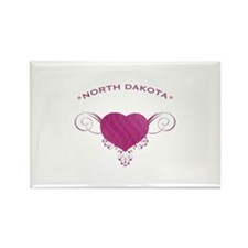 North Dakota State (Heart) Gifts Rectangle Magnet