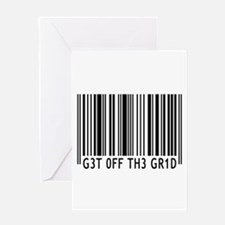 Get off the Grid   Greeting Card