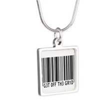 Get off the Grid | Silver Square Necklace