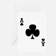 Ace of Clubs Greeting Cards (Pk of 10)