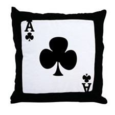 Ace of Clubs Throw Pillow