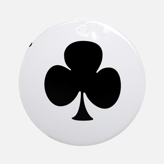Ace of Clubs Ornament (Round)