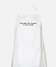 One Wire Fox Terrier BBQ Apron