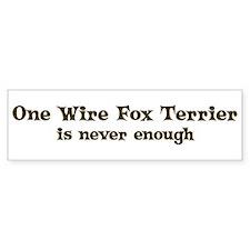 One Wire Fox Terrier Bumper Bumper Stickers