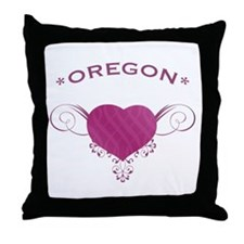 Oregon State (Heart) Gifts Throw Pillow