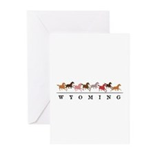 Wyoming horses Greeting Cards (Pk of 20)