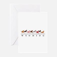 Wyoming horses Greeting Cards (Pk of 20)