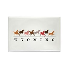 Wyoming horses Rectangle Magnet (100 pack)