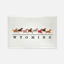 Wyoming horses Rectangle Magnet (10 pack)