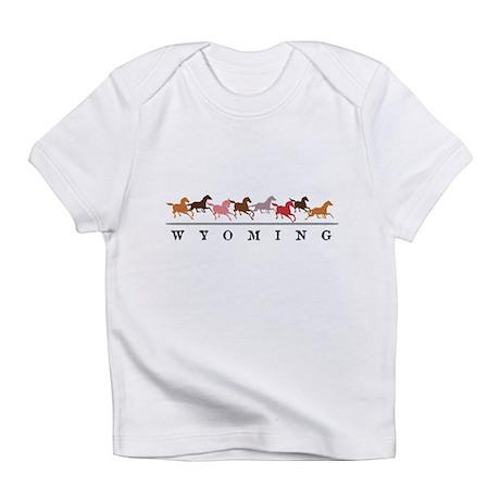 Wyoming horses Infant T-Shirt