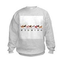 Wyoming horses Sweatshirt