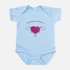 Pennsylvania State (Heart) Gifts Infant Bodysuit